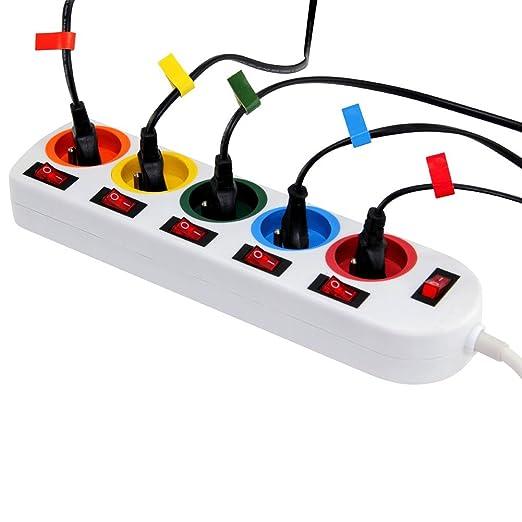 7 opinioni per Multipresa Colorata- Un interruttore per ogni presa + adesivi