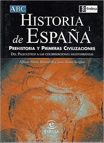 HISTORIA DE ESPAÑA: PREHISTORIA Y PRIMERAS CIVILIZACIONES Del peleolítico a las colonizaciones mediterráneas: Amazon.es: MOURE ROMANILLO, ALFONSO; SANTOS YANGUAS, JUAN: Libros