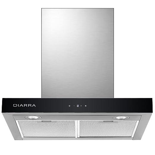 c0df768de849a CIARRA Campanas Extractora de Cocina Decorativa 60cm 550 m³ h Pantalla  Táctil Luz LED y