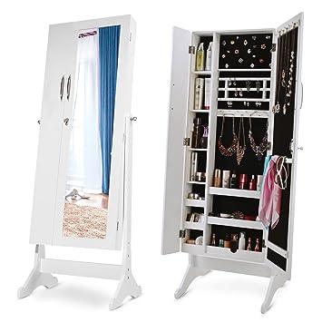 Amazon Com Merax Storage Jewelry Armoire Cabinet Free Standing