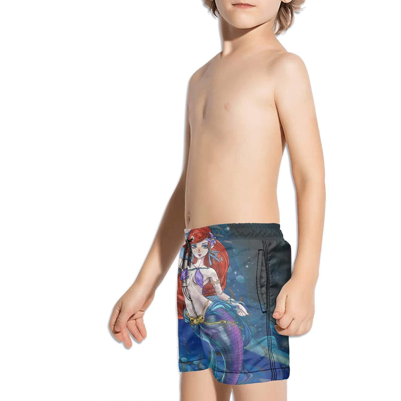 Etstk Mermaid Kids Lightweight Beach Shorts for Students