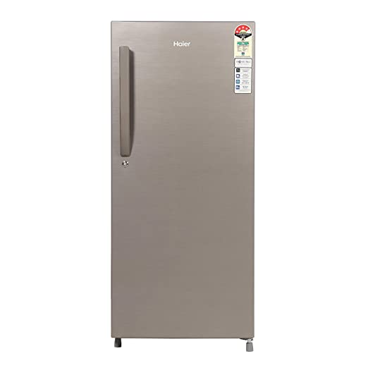 Haier 195 L 4 Star Direct Cool Single Door Refrigerator  HED  20CFDS, Dazzle Steel  Refrigerators