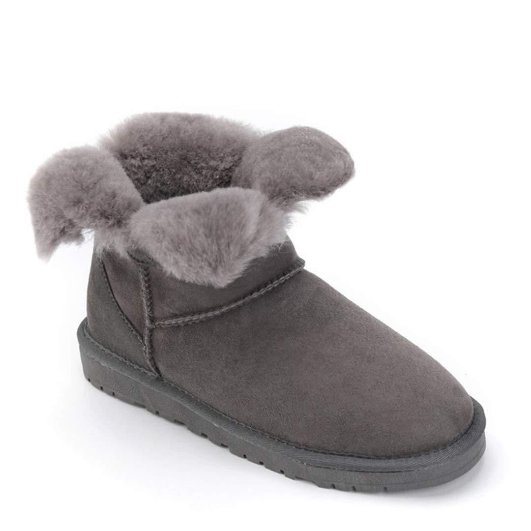 OLADO Ankle Schneeschuhe für Damen Mode Schaffell Schaffell Schaffell Leder Wolle Pelz einfarbig Kurze Stiefel e3f00f