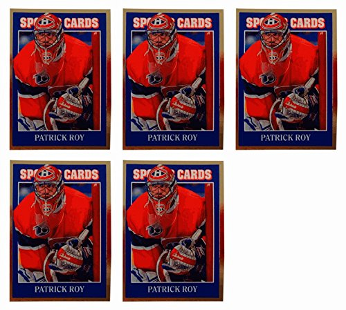 ((5) 1992 Sports Cards #68 Patrick Roy Hockey Card Lot Montreal Canadiens)