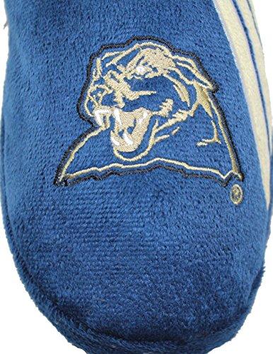 Ncaa Pittsburgh Panthers Menns Stue / Hus Tøfler Med Brodert Logo Blå
