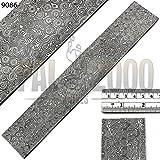 24''x2'' custom Damascus Steel RAIN DROP pattern billet / bar for knife making / Custom RAIN DROP pattern damascus steel billet blank for knife making supplies 9022