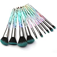 Makeup Brushes Set, Tenmon 10 PCS Crystal Transparent Handle Kabuki Powder Foundation Brush Concealer Eye Shadow…