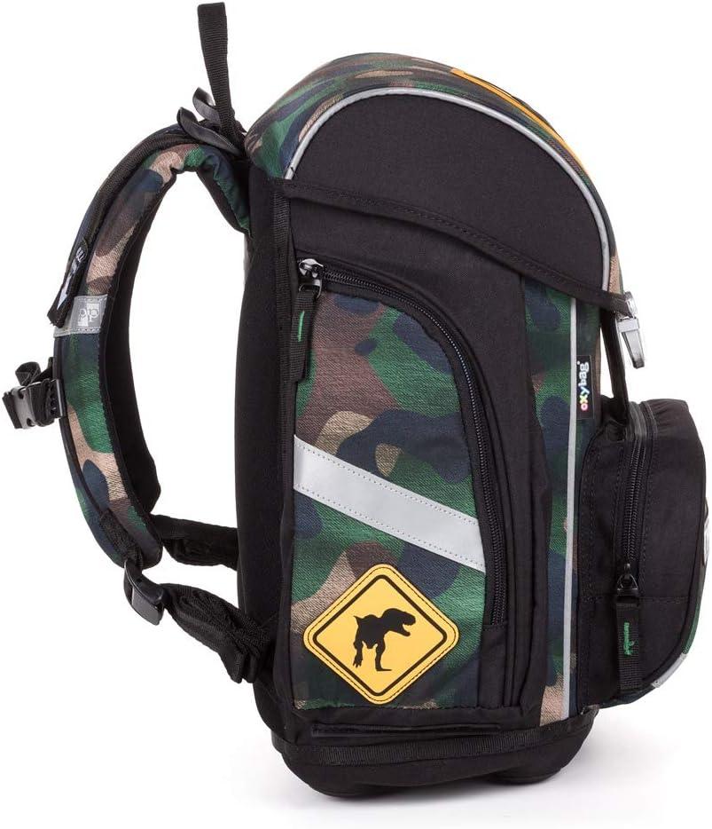 incluye estuche de deporte Juego de mochila y accesorios escolares de dinosaurio para ni/ños de 1 clase protector para la lluvia fiambrera juego de 6 piezas para la escuela primaria muy ligero