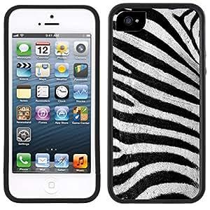 Zebra Stripes Animal Print Handmade iPhone 5 5S Black Case