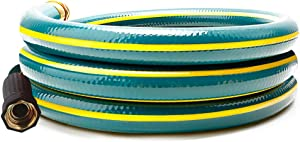 Solution4Patio 5/8 in. x 6 ft.Short Garden Hose, No Leaking, Green Lead-Hose Male/Female Solid Brass Fittings for Reel Cart, Water Softener, Dehumidifier, Camp RV Filter and Janitor Sink Hose #H155B21