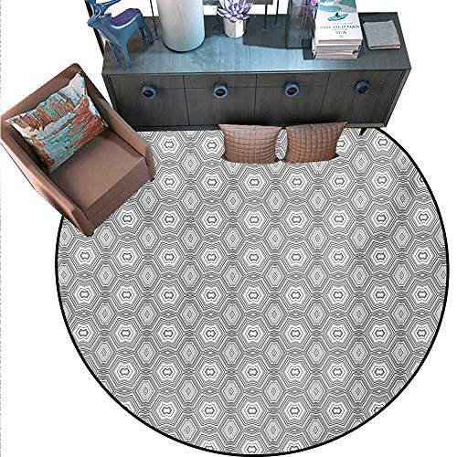 Grey White Print Area Rug Abstract Pattern Lots Angular Elements A Kaleidoscope Forms Home Decor Foor Carpe (55