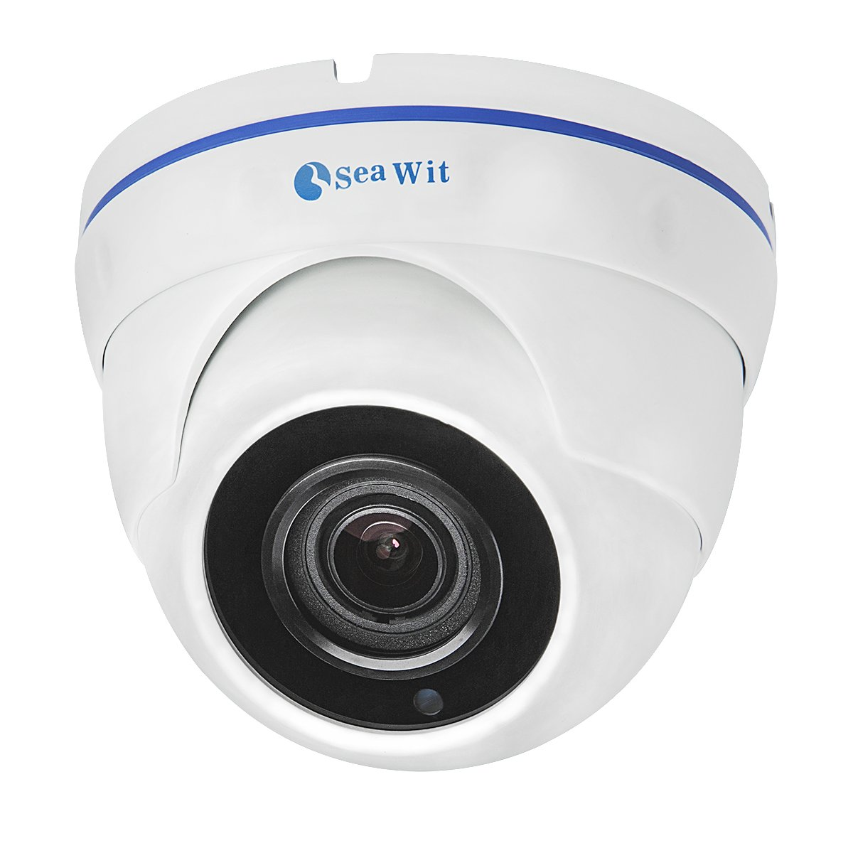5 Megapixel Dome Security IP Camera, Sea Wit H.265 HD POE(Power Over Ethernet) Surveillance Camera with 4x Optical zoom and 2.8-12mm AF lens, IP65 Indoor Camera, IR Night Vision