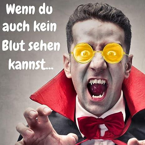 German Trendseller/® 1x Gafas John Lennon Amarillo Dise/ño Hippie Flower Power ┃Gafas de Colores┃Ultra Narciso Amarillo┃Gafas de Paz ┃1 Pieza