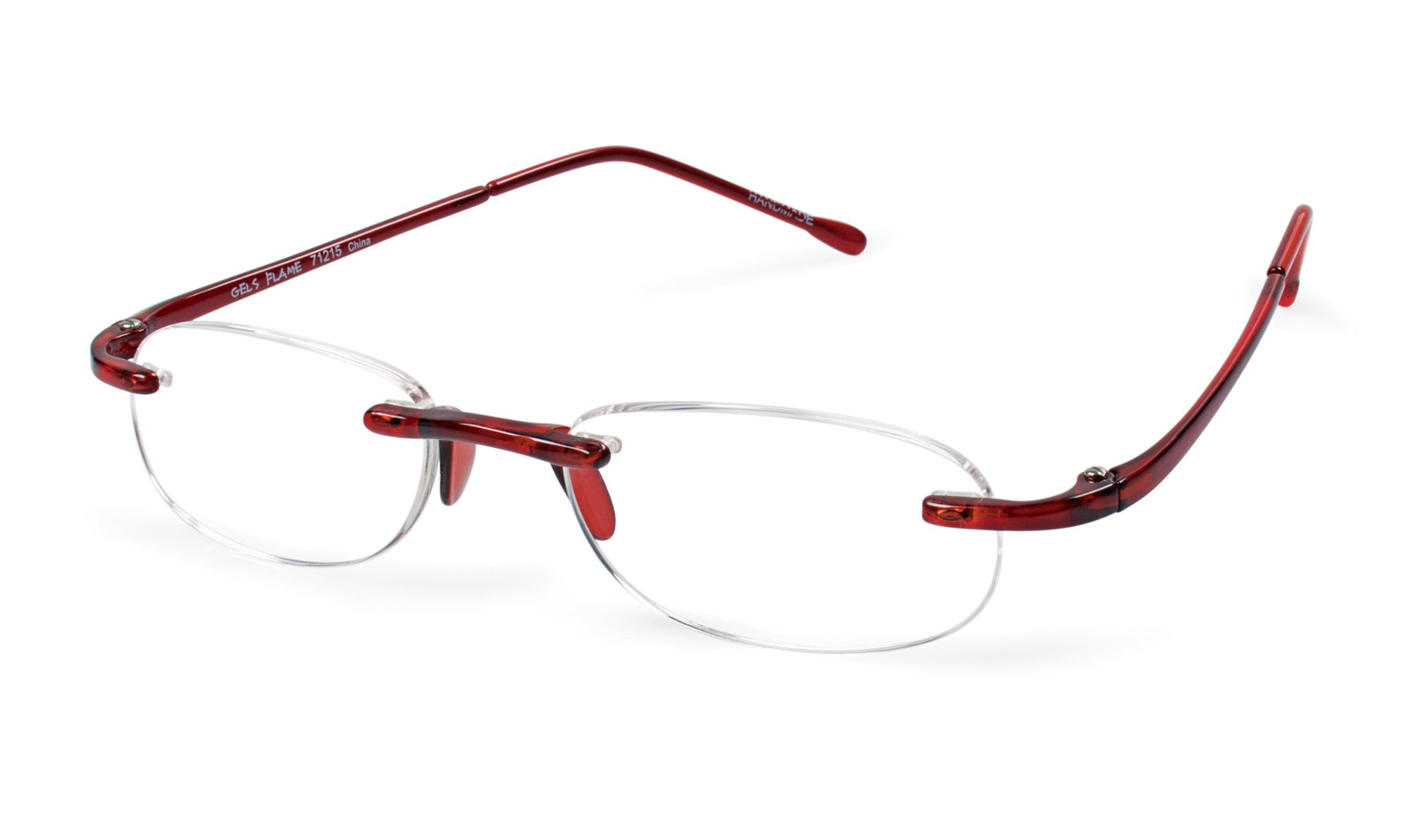 Scojo New York Gels FLAME Reading Glasses (+2.50 Magnification Power)