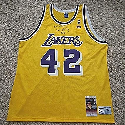 955de704d59 James Worthy Rare Authentic Memorabilia Autographed Signed Champion Lakers  Jersey With - JSA Authentic Memorabilia at Amazon's Sports Collectibles  Store
