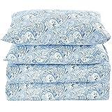 Juego de sábanas para camaMellanni de 4 piezas.De alta calidad. Microfibra cepillada 1800.Juego de cama resistente a las arrugas, decoloración y manchas. Hipoalergénico., cachemira azul, Queen, 1