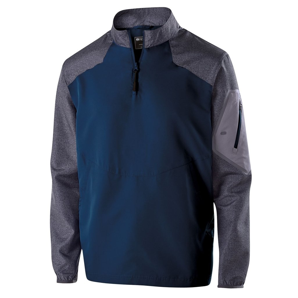 Holloway Youth Raider Pullover (Large, Carbon Print/Navy) by Holloway