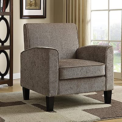 PRI Upholstered Accent Arm Chair - Dimensions: 31.5W x 31.5D x 35H in. Hardwood and wood composite frame Polyester velvet taupe upholstery - living-room-furniture, living-room, accent-chairs - 61DWvectFCL. SS400  -