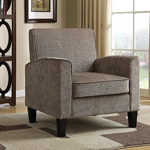 Pri upholstered accent arm chair lavorist for Upholstered living room chairs with arms