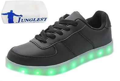 (Present:kleines Handtuch)Weiß EU 37, Weiß Sportschuhe JUNGLEST® Damen Laufschuhe Turnschuhe LED USB Sneaker mode Fasching Aufla