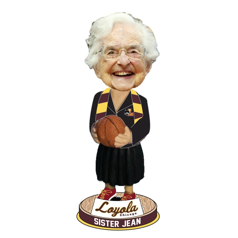 871ddc7177f Amazon.com   Sister Jean Loyola Ramblers Bobblehead   Sports   Outdoors