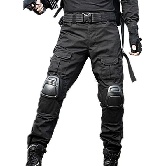 haoYK Military Paintball BDU Taktische Hosen Airsoft Hosen Multi-Tasche Diensthosen mit Knieschützer