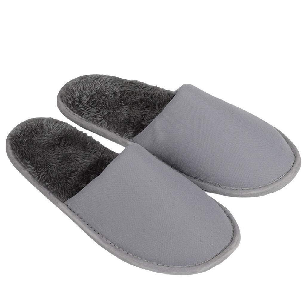 LBWT Hotel Guest Slippers - Non Disposable Clubhouse Slippers Clubhouse Home Spa Travel Grey 10 Pairs by LBWT