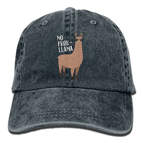 Yuan No Prob-Llama Cool Llama With Sunglasses Hipster Unisex Cotton Denim Dad Hat Adjustable Plain Cap Polo Style Low Profile Gift For Men - Polo Sunglasses Jeans