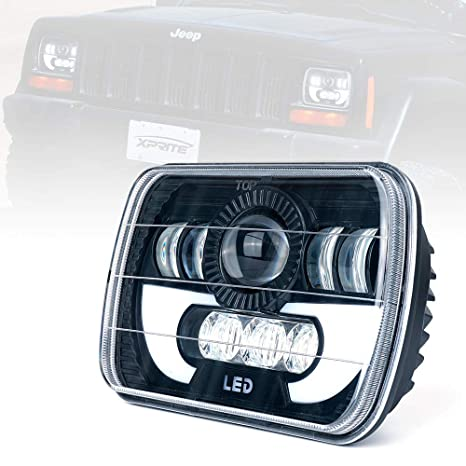 Jeep Information And Evolution Offroaders Com >> Xprite 7100 Evolution 5x7 Cree Led Square Headlight W Drl Replace H6054 H5054 H6054ll 69822 6052 6053 Jeep Wrangler Yj Cherokee Xj Trucks 4x4 Offroad