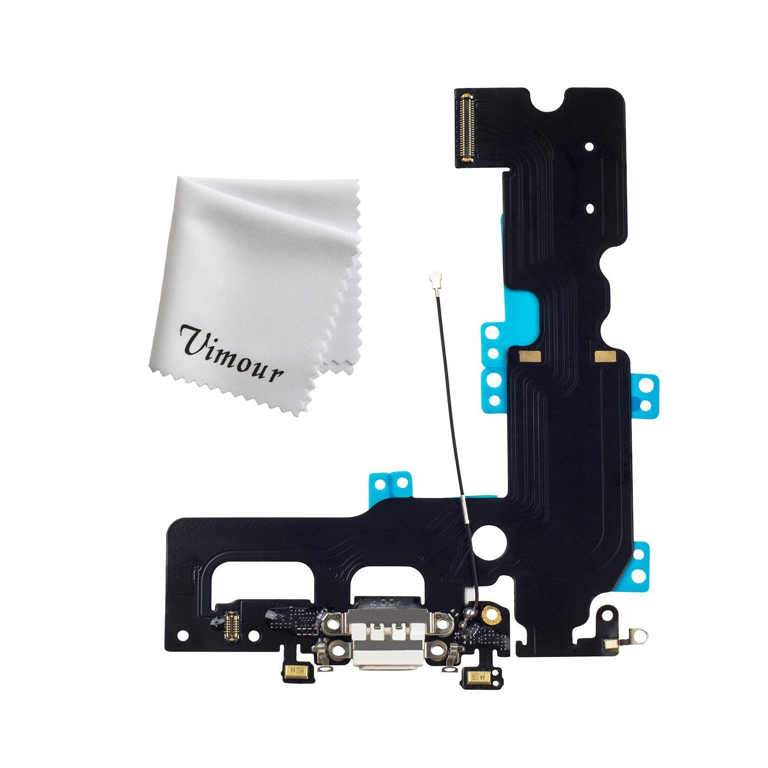 Doer Charging Port USB Dock Flex Cable with Microphone and Signal Antenna for iPhone 7 Plus 5.5 White