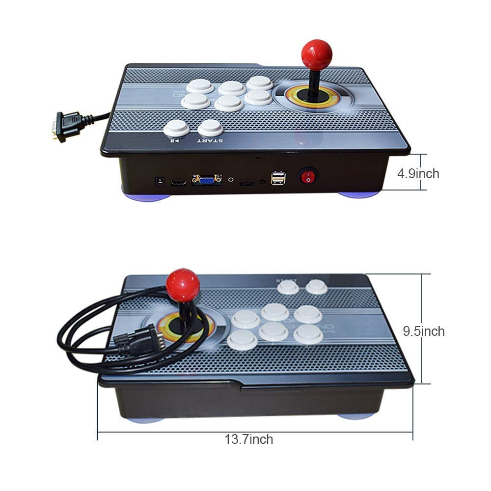 PinPle Arcade Game Console 1080P 3D & 2D Games 2020 in 1 Pandora's Box Kit Classic Arcade Game Machine 2 Players Arcade Machine Arcade Joystick Support Expand 6000+ Games for King of Fighters by PinPle (Image #2)
