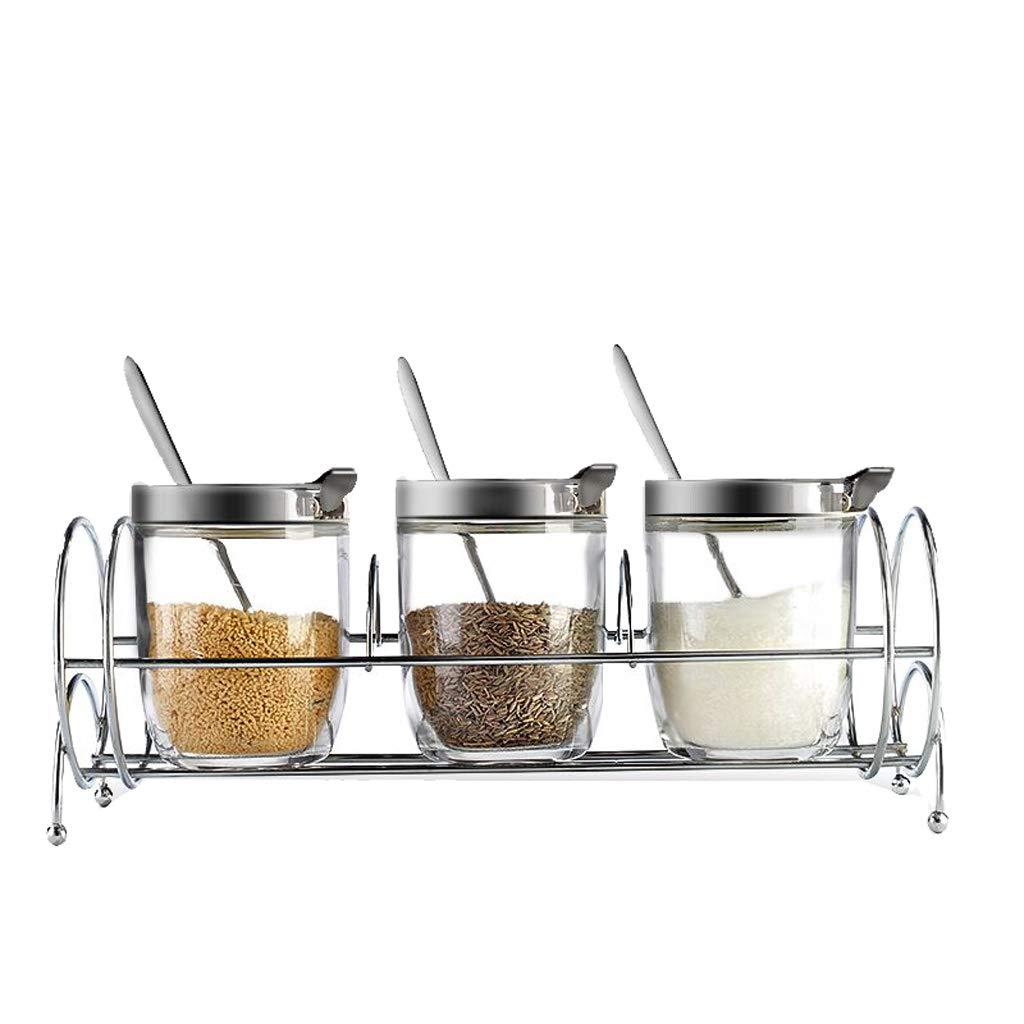 Goquik Spice Box Set Household Seasoning Jar Glass Seasoning Jar Salt Shaker Storage Bottle Seasoning Box Seasoning Box Kitchen Supplies by Goquik