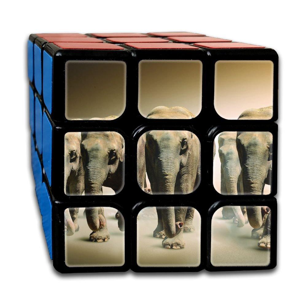 AVABAODAN Desert Elephant Elephishm 7357 Rubik's Cube 3D Printed 3x3x3 Magic Square Puzzles Game Portable Toys-Anti Stress For Anti-anxiety Adults Kids