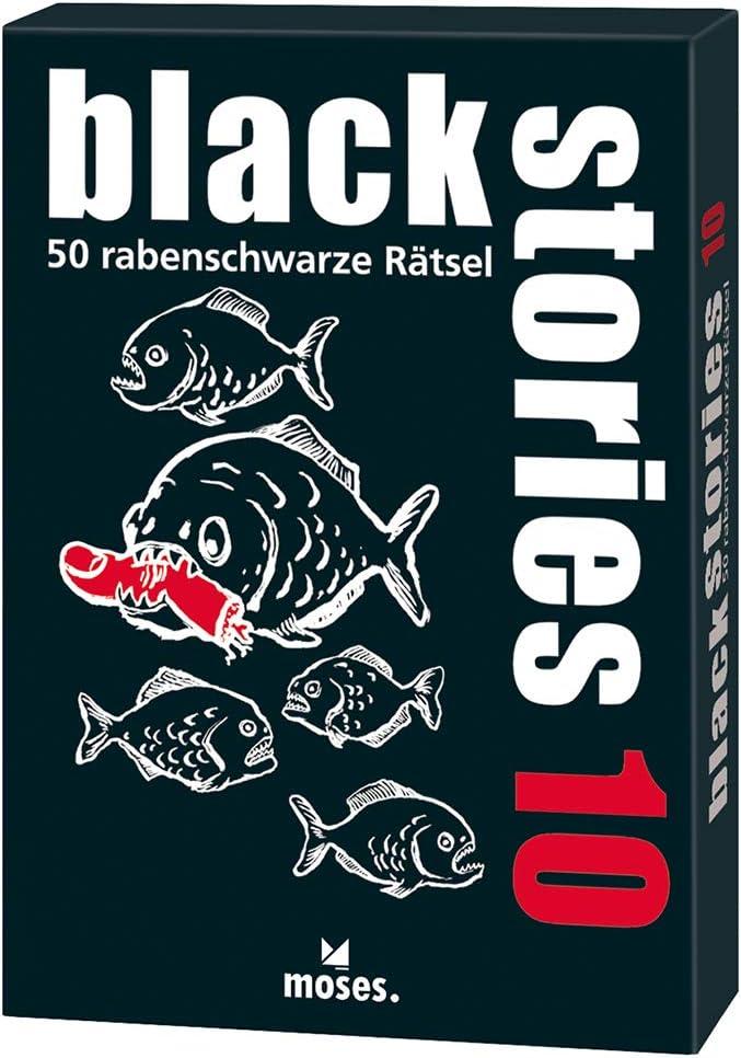 moses. Black Stories 10 Adultos Deducción - Juego de Tablero (Deducción, Adultos, 50 Pieza(s), 87 mm, 126 mm): Bösch, Holger: Amazon.es: Juguetes y juegos