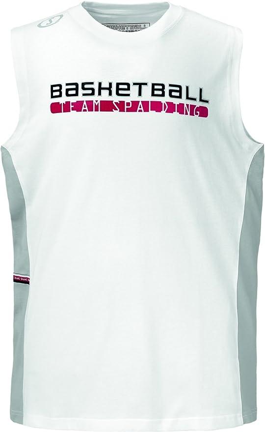 Spalding Authentic - Camiseta de Baloncesto para Hombre, tamaño S, Color Blanco: Amazon.es: Ropa y accesorios
