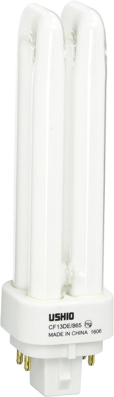 CFL Bulb CF13DE//865-13W Ushio BC8851 3000235 6500K 4 Pin G24q-1 Base