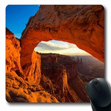 Amazon.com : Pandarllin Mousepads West Sunrise Mesa Arch ...