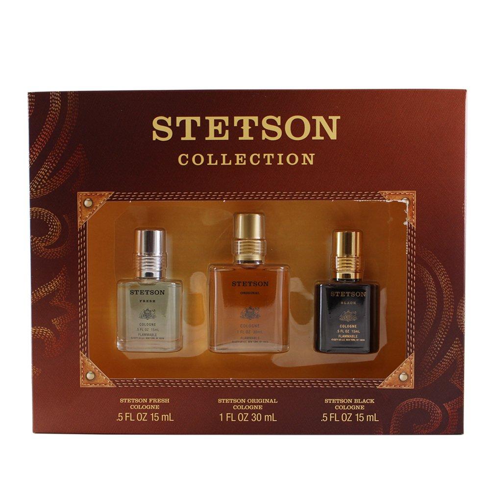 Coty Stetson collection gift set for men (Cologne Stetson Fresh & Stetson Black & Stetson Original), 0.5 Fl. Oz, 3 Piece