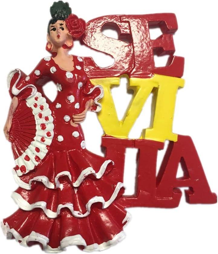Weekinglo Souvenir Imán de Nevera Sevilla España Resina 3D Artesanía Hecha A Mano Turista Viaje Ciudad Recuerdo Colección Carta Refrigerador Etiqueta: Amazon.es: Hogar