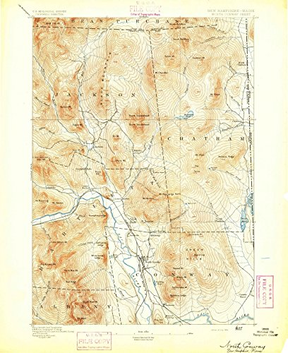 New Hampshire Maps | 1894 North Conway, NH USGS Historical Topographic Map |Fine Art Cartography Reproduction - Of Nh Conway Map North