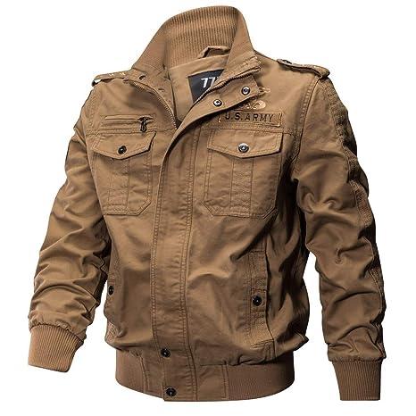 Hombre y niños Chaqueta bomber,Sonnena ⚽ hombre cárdigan casual chaqueta de manga larga ciclistas dobladillo elástico clásico color liso cremallera ...
