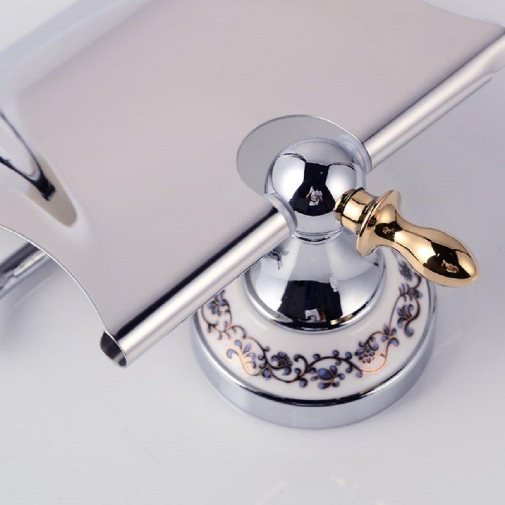 Wandmontage Toilettenpapierhalter,Edelstahl Toilettenpapierhalterung,WC-Papierrollenhalter,Toilettenpapierhalter mit Deckel Wandmontage Badzubeh/ör Dekor,Papierrollenhalter Chrom