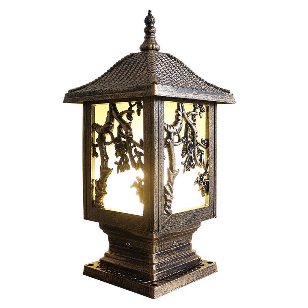 ネクシー - ヨーロッパスタイルのクリエイティブな長方形の列ランプヴィラのドアのポストの照明アンティーククラシックアルミE27ピラーライトフェンスの豪華なエレガントなLampscapeのランタン芝生の庭の入り口の結婚式の屋外防水街灯 (Color : Bronze) B07DDJ412X 11697  Bronze