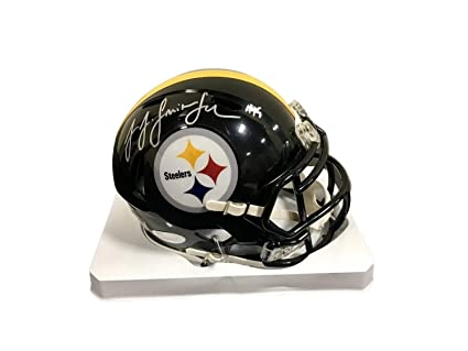 82c90b6c293 Amazon.com  Juju Smith Schuster Pittsburgh Steelers Autographed Signed  Autograph Speed Mini Helmet JSA Authentic  Sports Collectibles