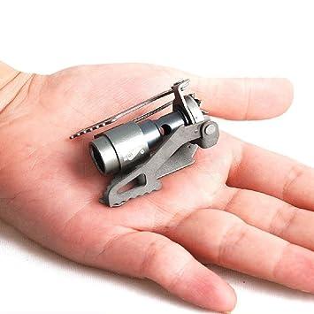 BRS 25 G de peso de aleación de titanio Camping estufa de gas al aire libre