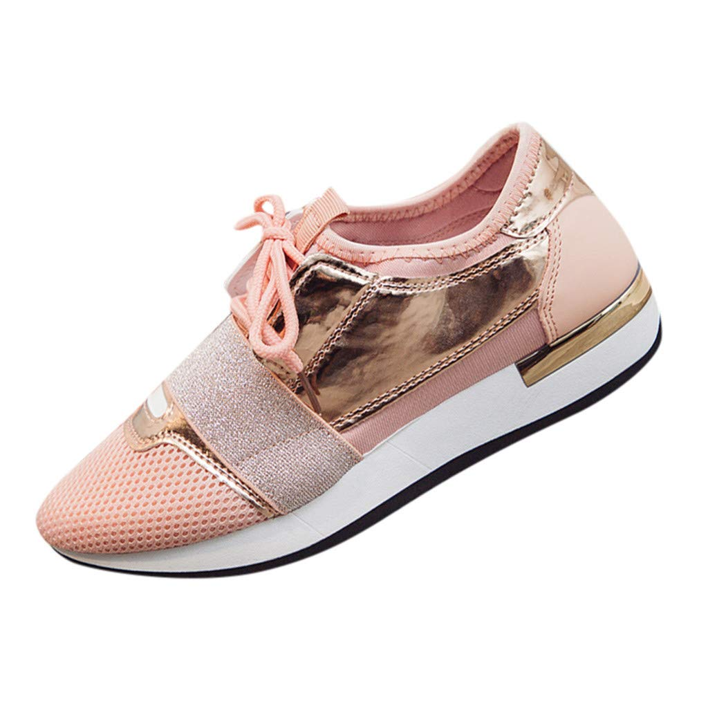 VonVonCo Womens Fashion Casual Shoes Low Heel Shoes Womens Stitching Low-Top Sneakers