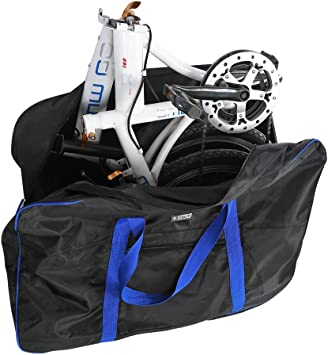 Bolsa de Transporte Bicicleta Maletas de Viaje con Bolsa de Sillín para Bicicleta Plegable de 14-20 Pulgadas: Amazon.es: Deportes y aire libre