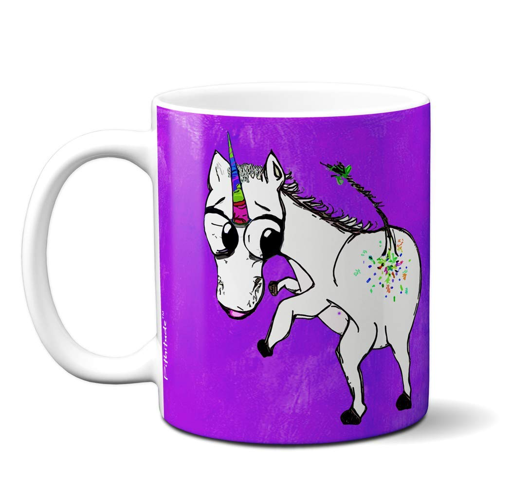 Unicorn Glitter Farts Mug by Pithitude - One Single 11oz. White Coffee Cup 4
