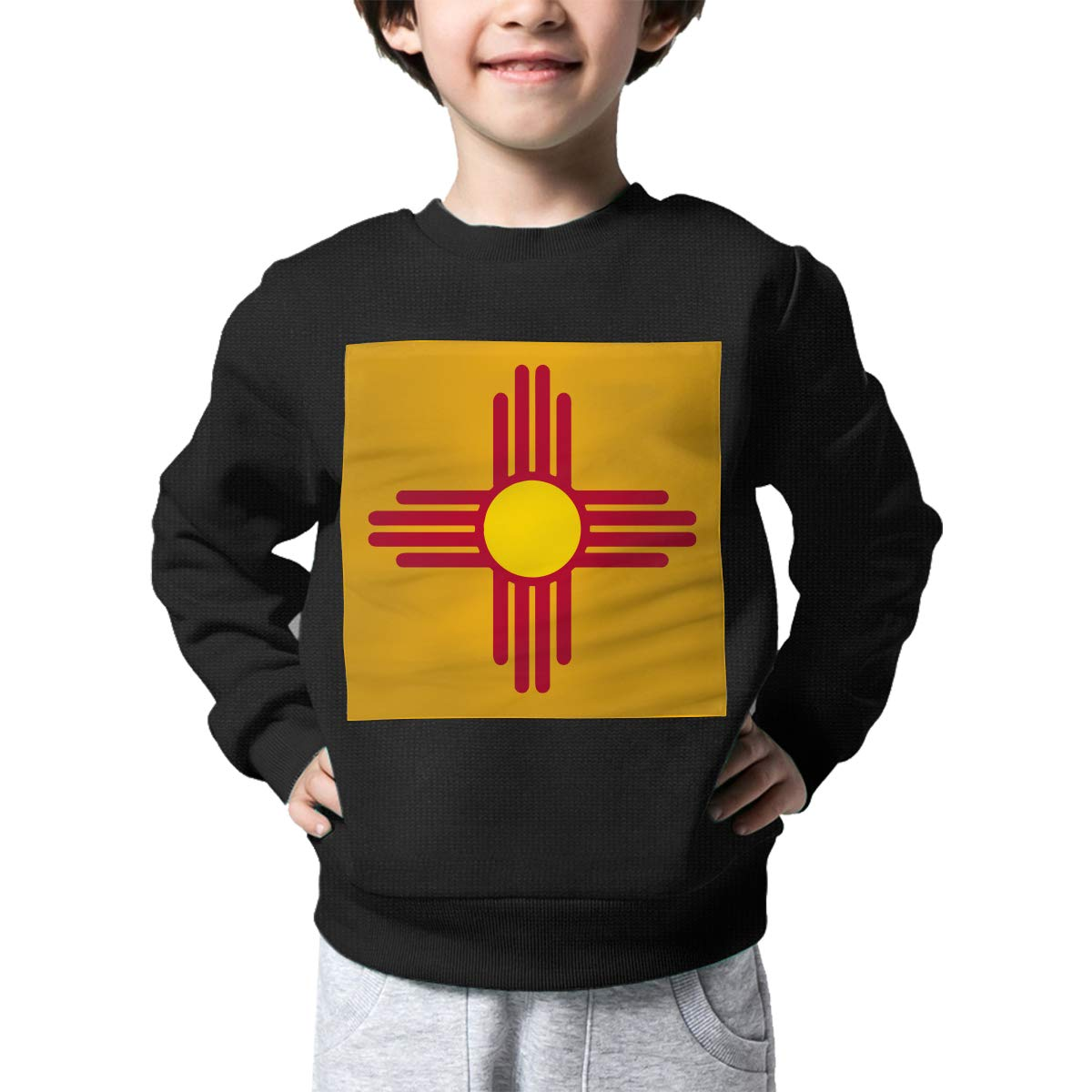 AW-KOCP Childrens Flag of New Mexico Sweater Baby Boys Pullover Sweaters