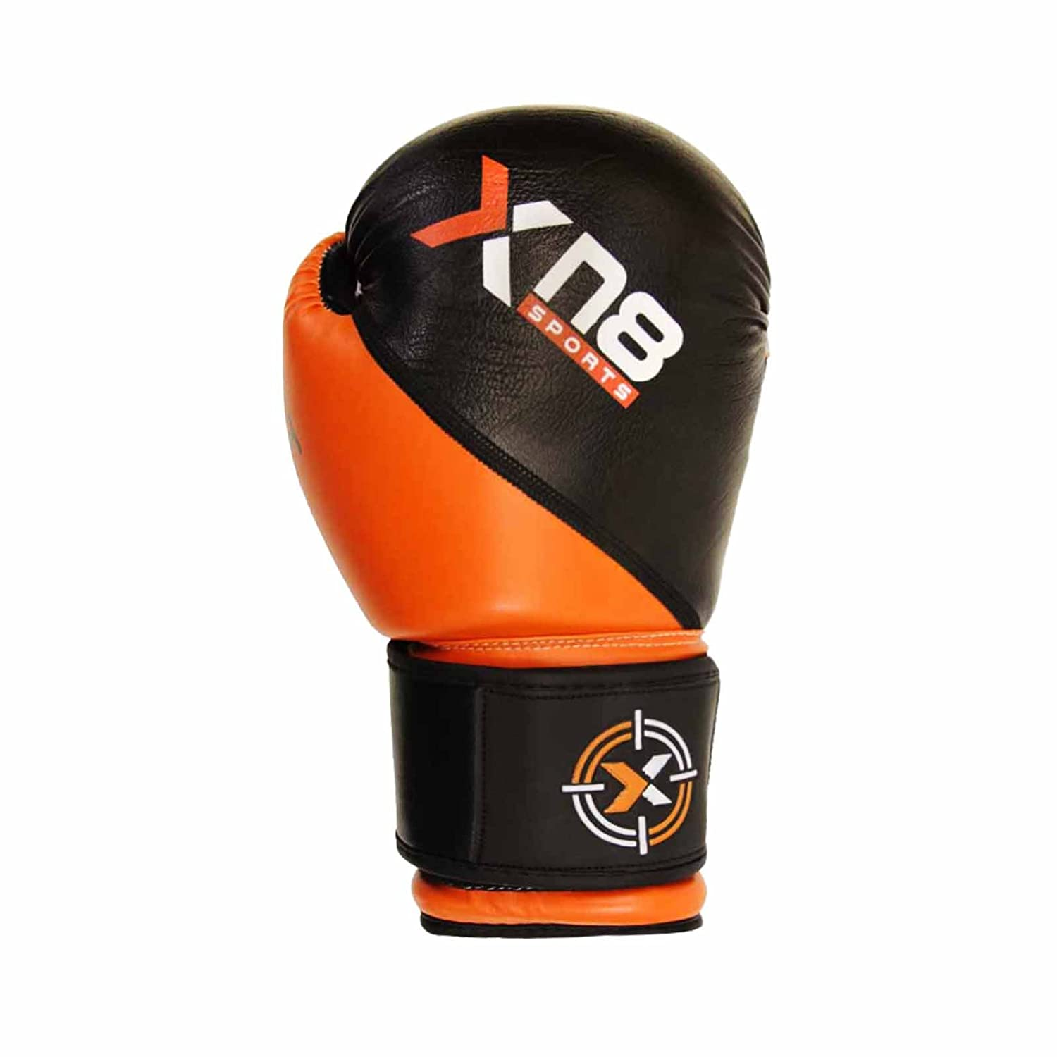 Xn8 Sports Moti Hide Leather Boxing Gloves MMA Muay Thai Punch Bag Sparring Fight Pad Kickboxing Martial Arts Training Gloves